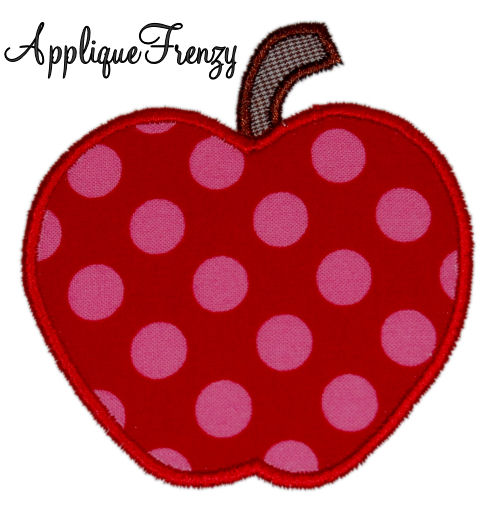 Apple Applique Design-