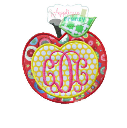 Apple with Monogram Center Design-