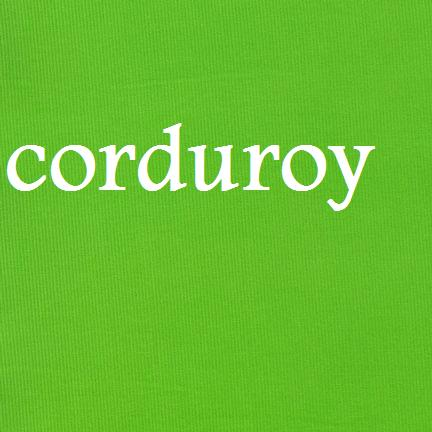 Fabric lime corduroy-