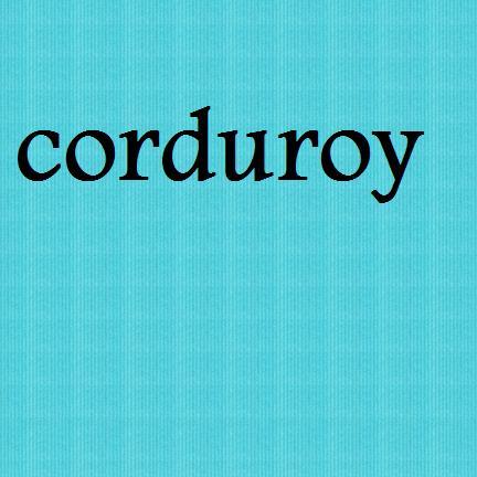 fabric turquoise corduroy-