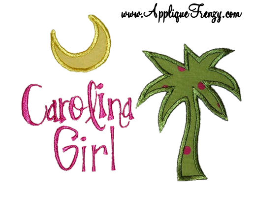 Carolina Girl Applique Design-