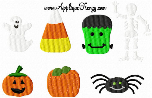 Fall Mini Embroidery Designs-FALL, PUMPKIN, HARVEST, HALLOWEEN,