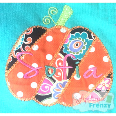 Pumpkin Patchwork Applique Design-pumpkin, fall, fall applique, boho, hippy