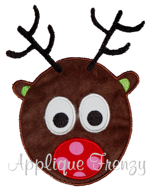 Rudy the Reindeer Applique Design-