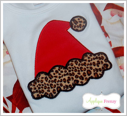 Santa Hat 2 Applique Design-