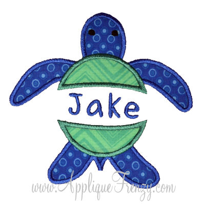 Sea Turtle Split Applique Design