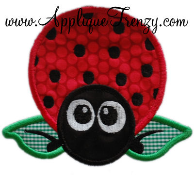 Shannon the Ladybug Applique Design-
