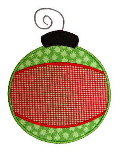Banded Christmas Ornament Applique Design
