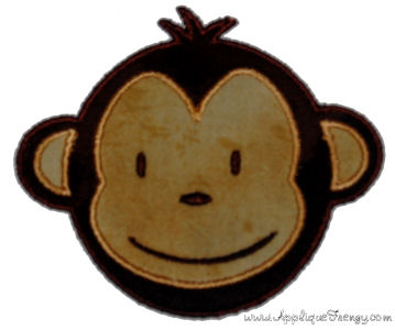 Monkey Boy Applique Design