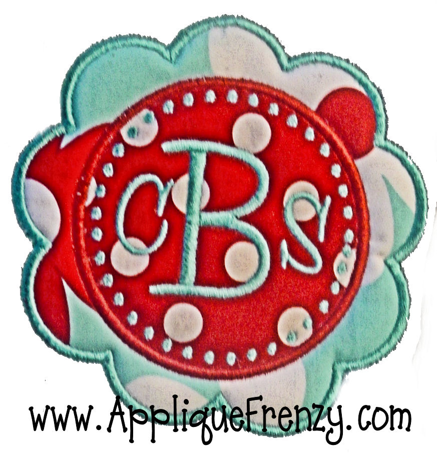 Chandler Patch Applique Design-frame, monogram, patch