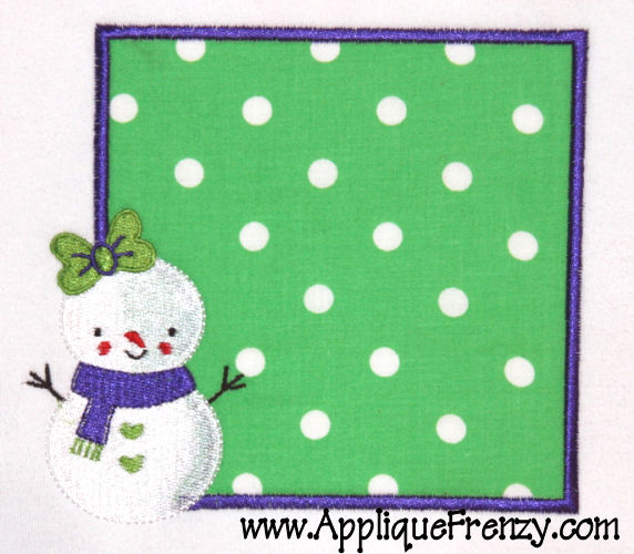 SnowGirl Patch Applique Design