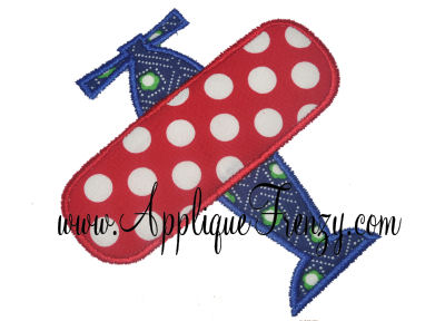 Simple Airplane Applique Design-