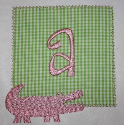 Alligator Patch Applique Design
