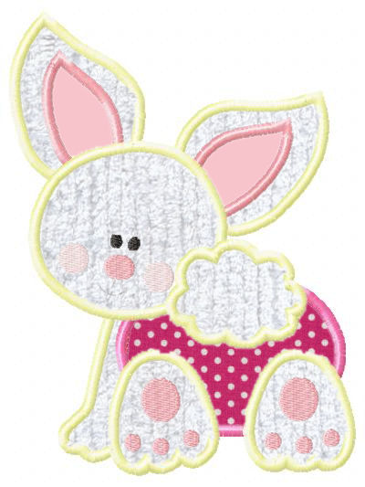 Bunny Crawling Applique Design-