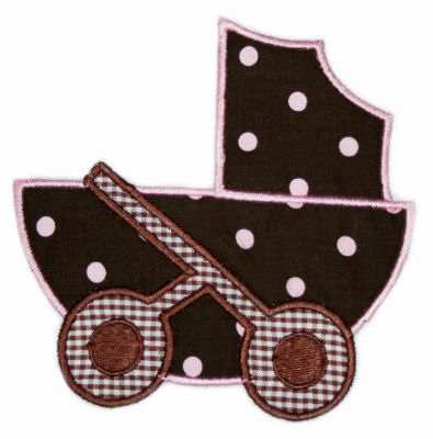 Baby Carriage Applique Design-baby, carriage, newborn