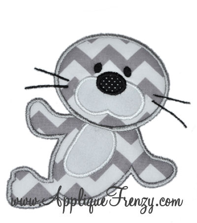 Baby Seal Applique Design-