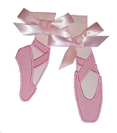 Ballet Point Slippers Applique Design-ballet, slippers, point shoes, girls, dance
