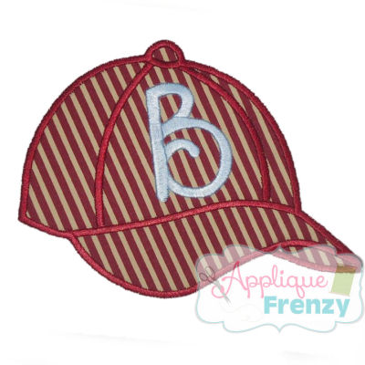 Baseball Cap Applique Design-