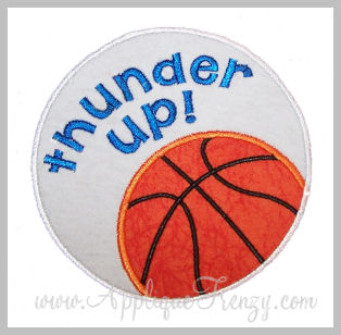 Baskeball Circle Patch Applique Design