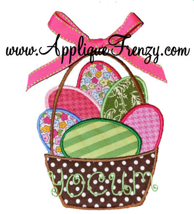 Basket full of Eggs Applique Design-
