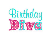 Birthday Diva Applique Design-birthday, girls, cupcake, cake, party