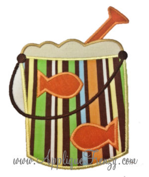 Fishy Beach Sand Bucket Applique-