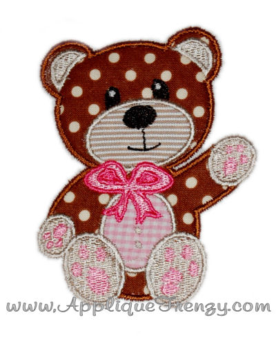 Teddy Bear Applique Design-