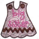 Big-Lil Sister Dress Applique Design-dress, big sister, lil sister, little sister,