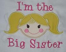 I'm the Big Sister Applique Design-big sister, girl little sister