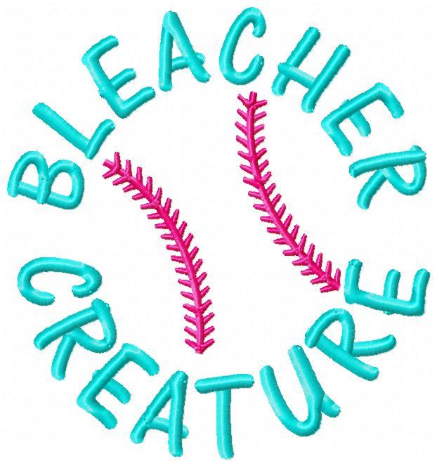 Bleacher Creature Baseball Embroidery Design-baseball, championships, base, diamond