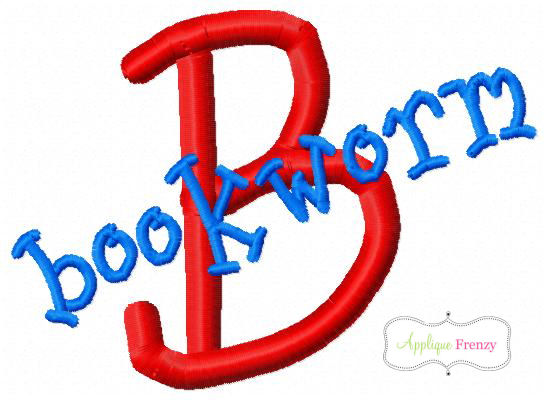 Bookworm Font-back to school, embroidery font, apple, school house, pencil, crayon