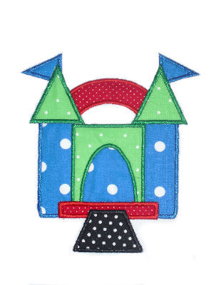 Bounce House Applique Design-bounce house , party