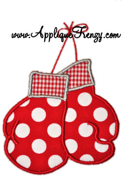 Boxing Gloves Applique Design