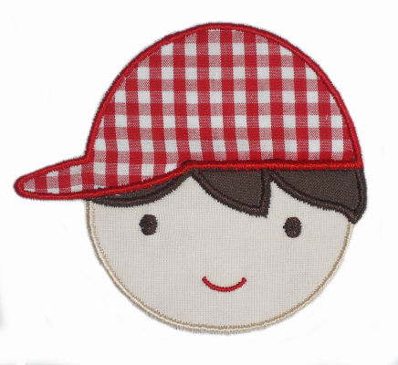 Boy with Hat Applique Design