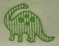 Brontosaurus Applique Design