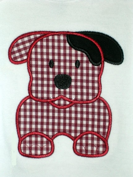 Bulldog Applique Design-