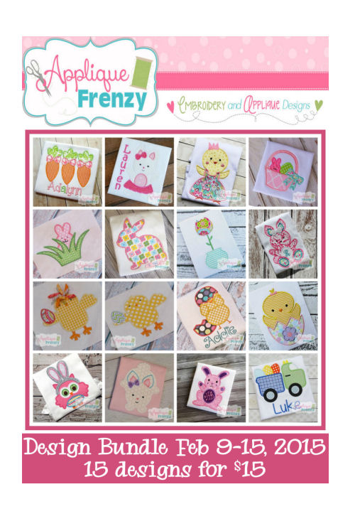 Bundle Promo 2015 February 9-15-bundle, sale, promotion, free applique designs
