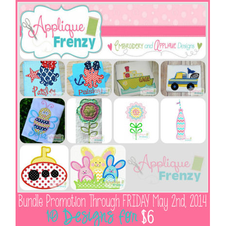 Bundle Promo 2014 Apr 27-May 3-bundle, sale, promo,cheap applique