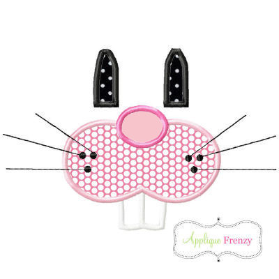 Bunny Face Features Applique Design-