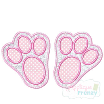 Bunny Paw Applique Design-easter, eggs, egg hunt, bunny, bunny paws, hop, hip hop, rabbit