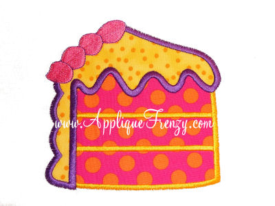Cake Slice Applique Design-