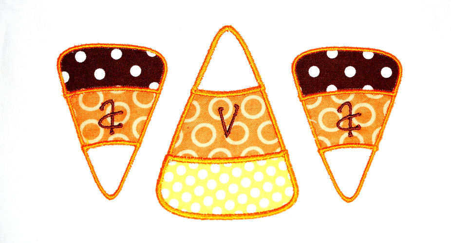 Candy Corn Trio Applique Design-halloween, candy trio, candy corn