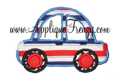 Bubble Car Applique Design-