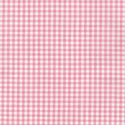 fabric gingham  pink-