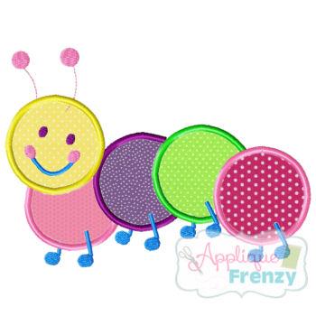 Caterpillar Applique Design-caterpillar, bug, spring