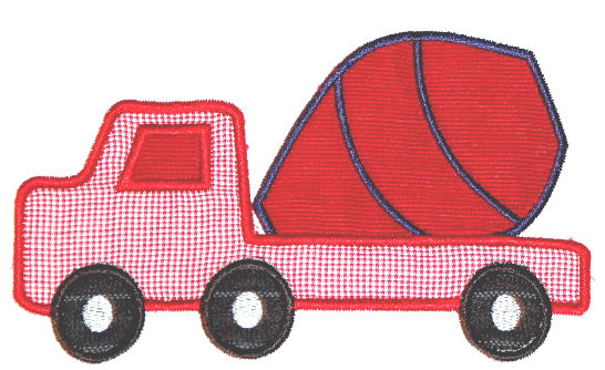 Cement Truck Applique Design-cement truck, construction, boys