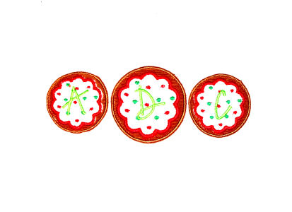 Christmas Cookie Trio Applique Design-