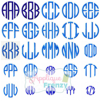Circle Monogram Font Embroidery-circle monogram font, circle font, embroidery font, fancy  circle, natural circle, embroidery font