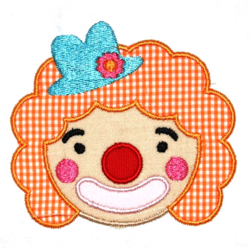 Clown Applique Design-clown, circus