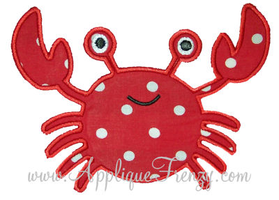 Crab 2 Applique Design